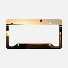 Photographer At Sunset License Plate Holder
