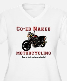 Co-ed Naked Motorcycling T-Shirt