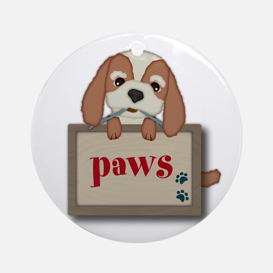 Customisable Cute Puppy Dog with Signboard Ornamen