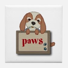 Customisable Cute Puppy Dog with Signboard Tile Co