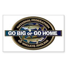 Go Big or Go Home Walleye Decal