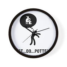 Pottery-C Wall Clock