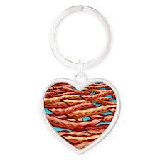 Bacon Heart Keychain