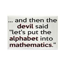 Mathematics Has The Alphabet Rectangle Magnet