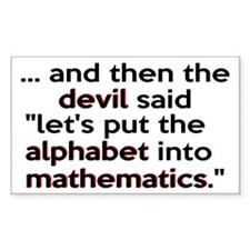 Mathematics Has The Alphabet Decal
