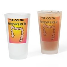 the colon whisperer pillow pink Drinking Glass