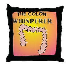 the colon whisperer pillow pink Throw Pillow