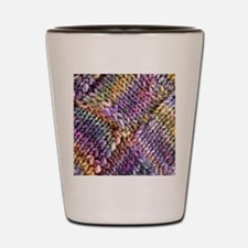 Entrelac Knit  multi-colored Shot Glass