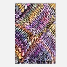 Entrelac Knit  multi-colo Postcards (Package of 8)