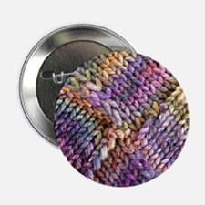 "Entrelac Knit  multi-colored 2.25"" Button"