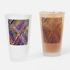Entrelac Knit  multi-colored Drinking Glass