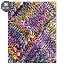Entrelac Knit  multi-colored Puzzle