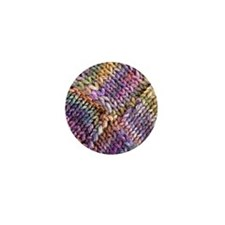 Entrelac Knit  multi-colored Mini Button
