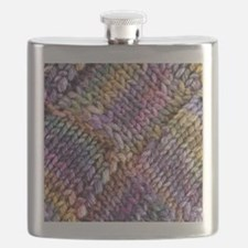 Entrelac Knit  multi-colored Flask