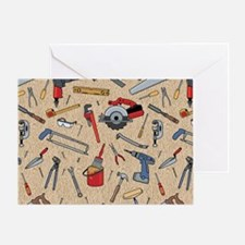 Work Tools on Wood Greeting Card