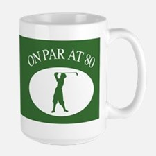 Golfer's 80th Birthday Mug