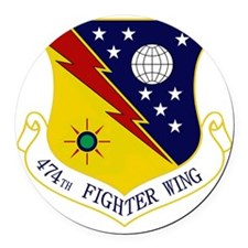 474th FW Round Car Magnet