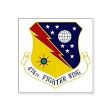 "474th FW Square Sticker 3"" x 3"""