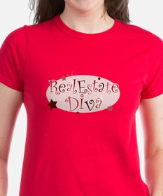 """""""Real Estate Diva"""" [red] Tee"""