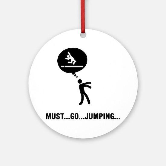 Long-Jump-C Round Ornament
