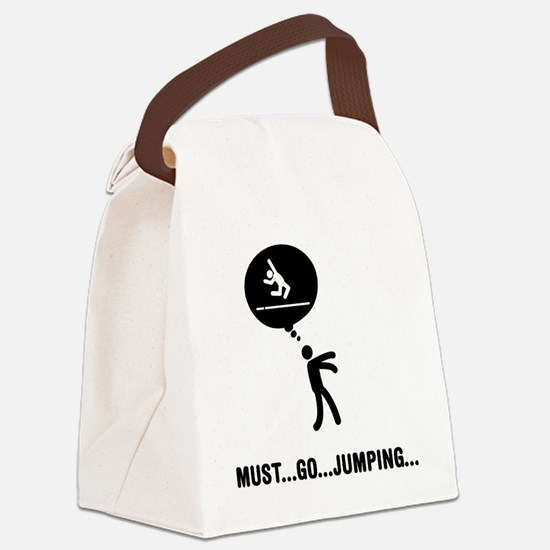 Long-Jump-C Canvas Lunch Bag