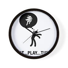 Marching-Band---Tuba-C Wall Clock