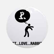 Rabbit-Lover-A Round Ornament