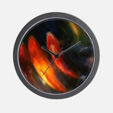 Painted Fish Wall Clock