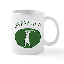 Golfer's 75th Birthday Mug