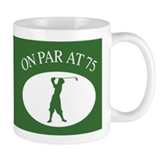 Golfer's 75th Birthday Small Mugs
