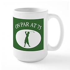 Golfer's 75th Birthday Ceramic Mugs