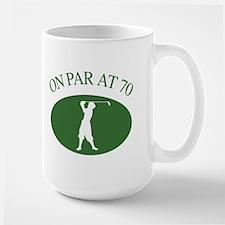 Golfer's 70th Birthday Large Mug