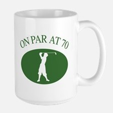 Golfer's 70th Birthday Mug