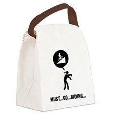 Mountain-Biking-A Canvas Lunch Bag