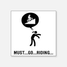 """Mountain-Biking-A Square Sticker 3"""" x 3"""""""