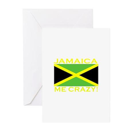 Jamaica Me Crazy! (Dark) Greeting Cards (Package o