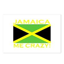 Jamaica Me Crazy! (Dark) Postcards (Package of 8)