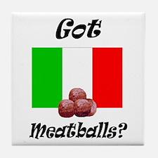 Cute Meatball Tile Coaster