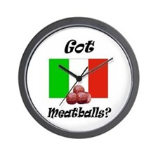 Cute Meatball Wall Clock