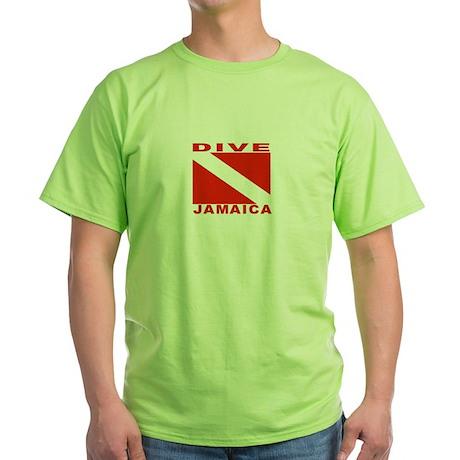 Dive Jamaica Green T-Shirt