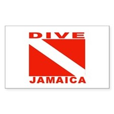 Dive Jamaica Rectangle Decal
