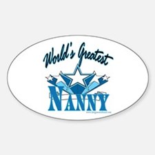 Greatest Nanny Oval Decal