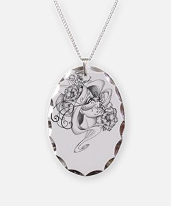 life and death Necklace Oval Charm