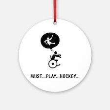 Physically-Challenge-Sled-Hockey-C Round Ornament