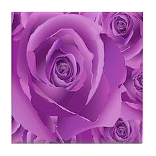 Lavender Roses Tile Coaster