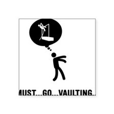 "Pole-Vault-C Square Sticker 3"" x 3"""
