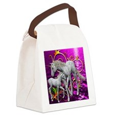 Unicorn Love Canvas Lunch Bag
