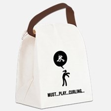 Curling-A Canvas Lunch Bag