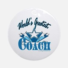 Greatest Coach Ornament (Round)
