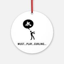 Curling-C Round Ornament